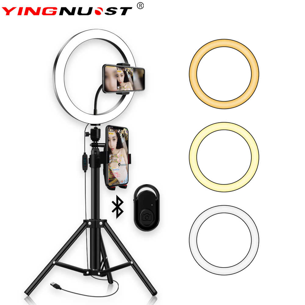 10inch 26cm Selfie Portrait LED Ring Light for Cellphone ,Camera Video Record, Makeup  1.8m Height Tripod Stand Ring Lamp Kit