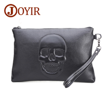 купить High quality genuine leather bag small men clutch bag bags skeleton pattern new design black handbag, free shipping недорого