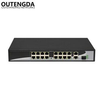 16 ports POE Switch with 16 POE Ports 2 Gigabit Uplink 1*1000Mbps SFP Power to IP Camera, Wireless AP, IP Phone 24 ports poe switch with 4 gigabit sfp combo 24 poe 4 sfp fiber ports gigbit poe ethernet network switch 1000mbps rackmount