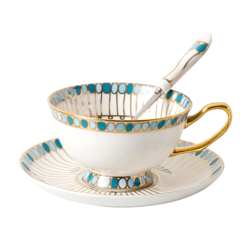 Os chine tasse à café assiette ensemble britannique en céramique après-midi thé tasse noire soucoupe ensemble Continental tasse à café plat ensemble cadeau en boîte