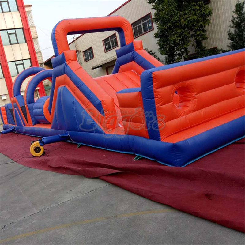 цена на Outdoor inflatable amusement interactive challenge obstacle course bounce house