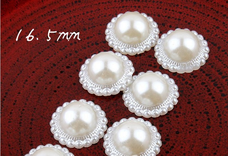 Enthusiastic 300pcs/lot 16.5mm Ivory Plastic Sunflower Bead Decoration Diy Flatback Acrylic Half Pearl Buttons Craft Scrapbooking Tools Providing Amenities For The People; Making Life Easier For The Population