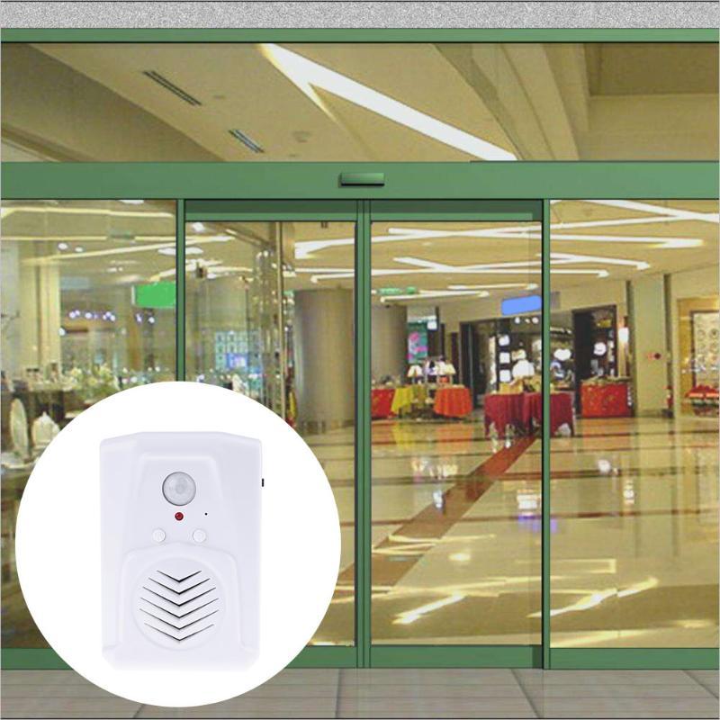 Wireless Doorbell PIR Store Shop Welcome Motion Sensor Infrared Detector Induction Alarm Door Bell Waterproof Doorbell m v3 wireless door pir motion sensor doorbell automatic door bell audio player welcome chime door bell detector alarm