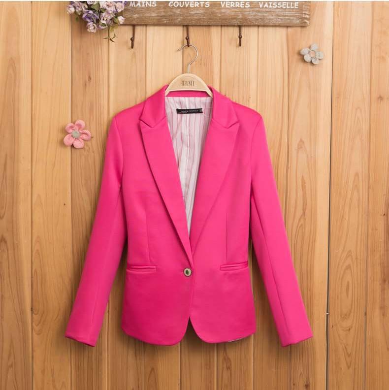 пиджак женщины куртка womenfeminino обновить пиджак костюм складной куртки женщины одежда один пуговица конфеты цвет