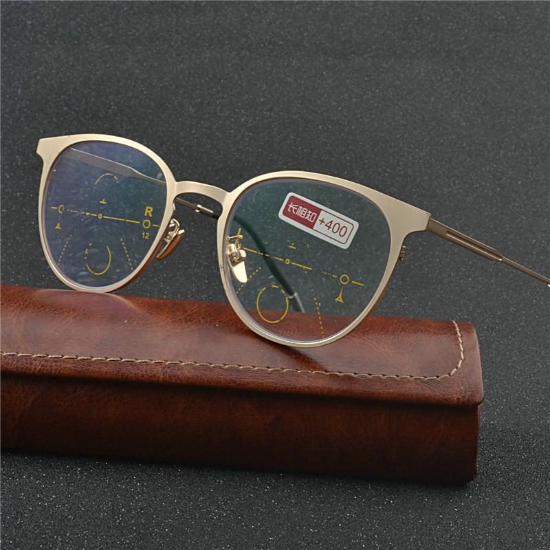 Óculos de Sol De transição Progressiva Multifocal Fotocromáticas Multifocal  Óculos Homens Mulheres óculos de Leitura Presbiopia 01c959dfee