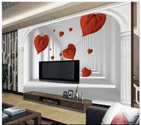 Custom 3d photo wall mural Wallpaper 3D space roman column background wall painting background wall painting bedroom decoration
