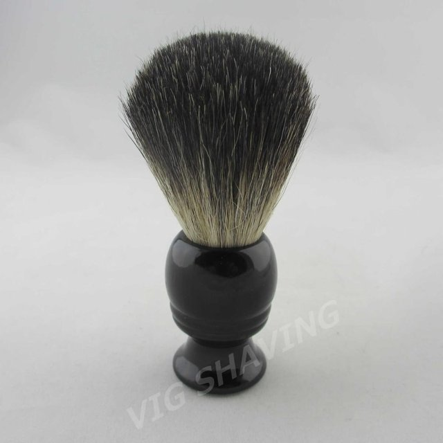30pcs/lot Black badger shaving brush black wood handle BL0422BL knot 21mm
