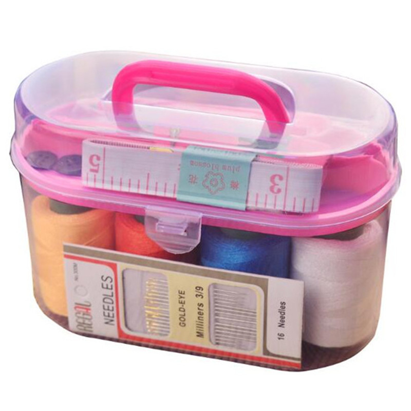 Large Sewing Box Set Household Portable 10 Piece Set Mini Tool Sewing Thread Multi function Sewing