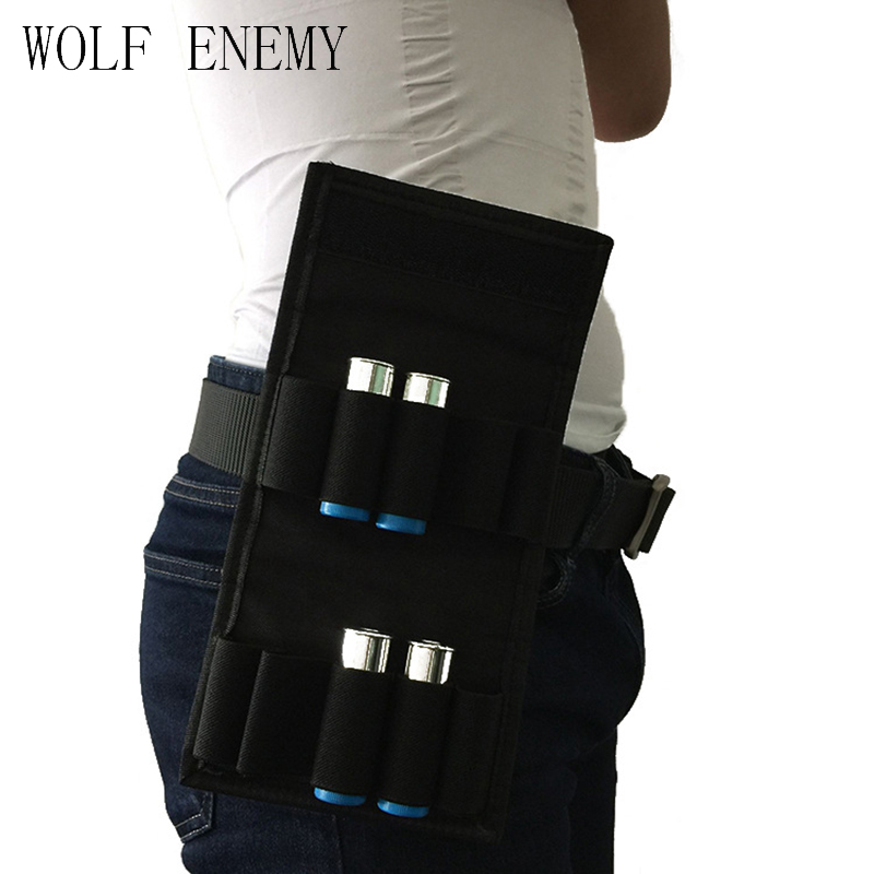 Tactical 10 Round Shotgun Reload Magazine Pouch Molle 12GA Ammo Holder Combat Bullet Pouches Hunting Shooting Shell Waist Bag