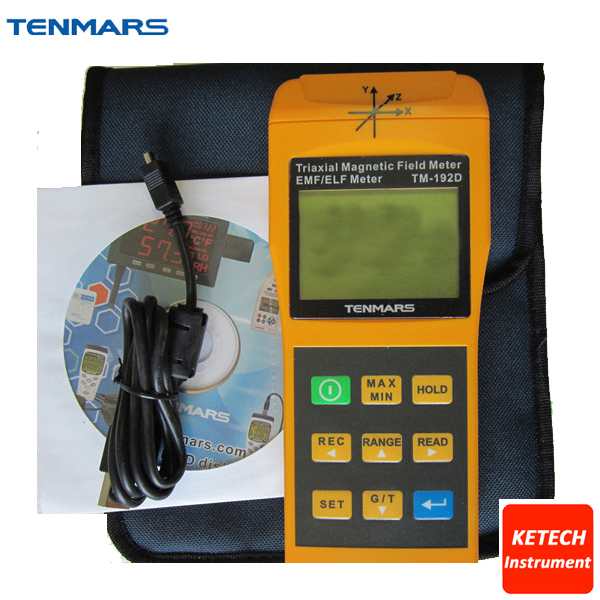 цена на 3 Axis Triaxis Magnetic Field Meter EMF EML Tester Electromagnetic Radiation Detectors TENMARS TM-192D