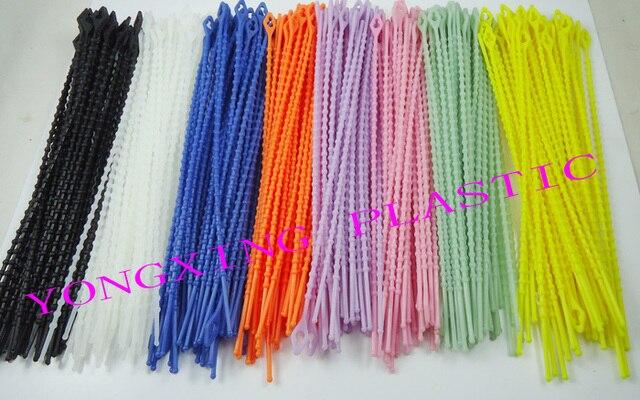 764527cc5713 50pcs/lot 3X180 zip releasable knot cable tie 8 color black white for your  choose