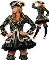 БЕСПЛАТНЫЙ ПП Сексуальные женщины косплей костюмы Партии Делюкс Пиратский Костюм Для Взрослых косплей хэллоуин фантазии костюмы