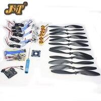 JMT 6 оси Складная стойка RC Quadcopter комплект с KK V2.3 платы + 1000KV безщеточный + 10x4,7 пропеллер + 30A ESC