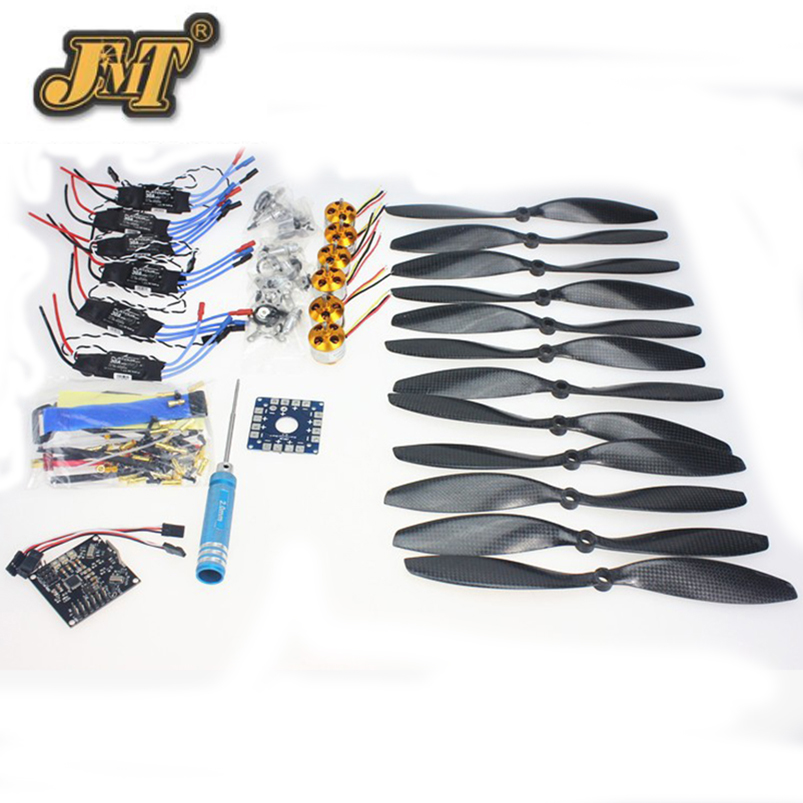 JMT 6 Axis Foldable Rack RC Quadcopter Kit with KK V2.3 Circuit Board +1000KV Brushless Motor + 10x4.7 Propeller + 30A ESC f02015 g 6 axis foldable rack rc quadcopter kit apm2 8 flight control board gps 1000kv brushless motor 10x4 7 propeller 30a esc