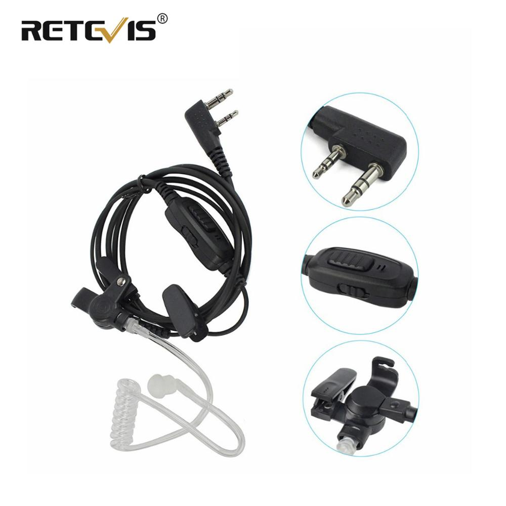Retevis 2Pin PTT VOX Earpiece Air Acoustic Tube Headset For Kenwood Retevis H777 For Baofeng UV-5R BF-888S For TYT Walkie Talkie