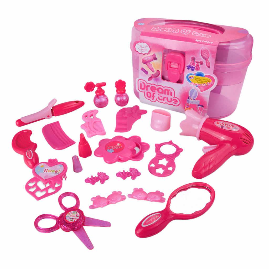 Детская ролевая игра детская игрушка моделирования косметическая коробка для девочек Маленькая Принцесса Вечерние ролевые игры, ювелирные изделия для девушек, игра T6 #