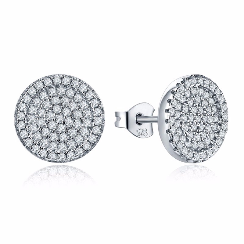 925-sterling-silver-jewelry,White Crystal Zircon Earrings Stud Earrings For Women 925 Sterling Silver Earrings Fashion Jewelry DE54610A (1)