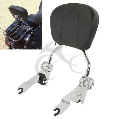 Adjustable Sissy Bar Passenger Backrest W/ Pad For Harley Touring Models 2009+