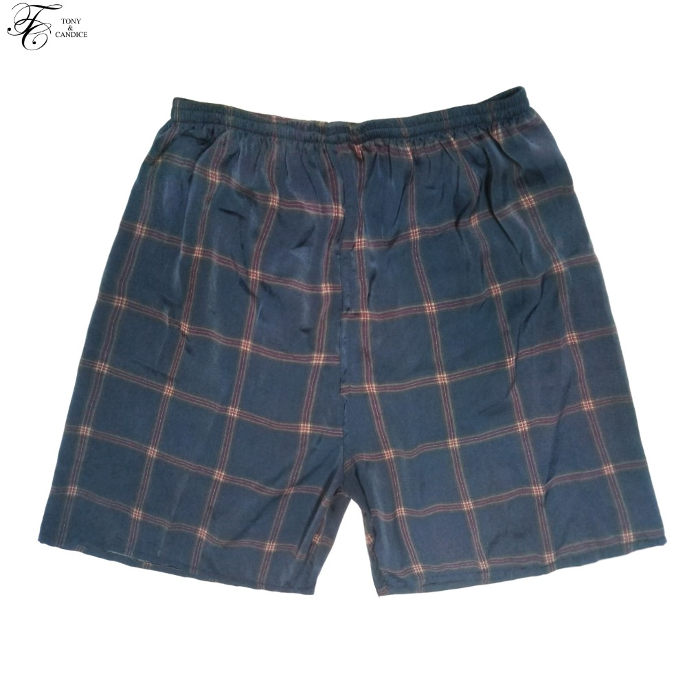 Tony&Candice Men's Pajama Pants Short In Summer Soft Cozy Men Sleep Bottoms One Size Men Sleep Pants 8 Prints Colors Beach Pants