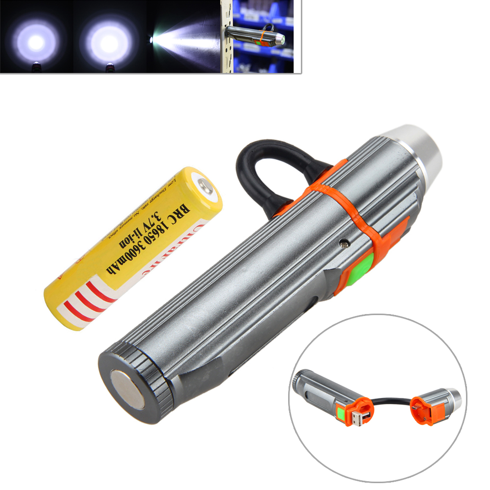 USB 2.0 Q5 LED Lanterna 2000LM Rechargeable Mini Flashlight Hunting Torch PowerBank Magnetic Light+18650 Rechargeable Battery 2000lm super bright q5 led rechargeable waterproof usb flashlight torch zoom adjustable