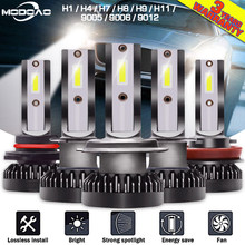 2PCS H1/H4/H7/H8/H9 LED 12000LM/PAIR Mini Car Headlight Bulbs LED Headlamps Kit 9005 HB3 9006 HB4 Auto LED Lamps(China)