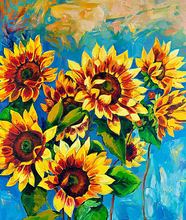 5D DIY Diamond Painting Blooming Sunflower Flowers Oil Picture Full Square  With Diamonds Mosaic Rhinestones