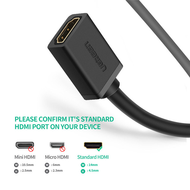Ugreen HDMI Extender 4K 60Hz HDMI Extension Cable  HDMI 2.0 Male to Female Cable for HDTV Nintend Switch PS4/3 HDMI Extender