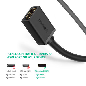 Image 5 - Ugreen HDMI Extender 4K 60Hz HDMI Verlängerung Kabel HDMI 2,0 Männlich zu Weiblich Kabel für HDTV Nintend Schalter PS4/3 HDMI Extender