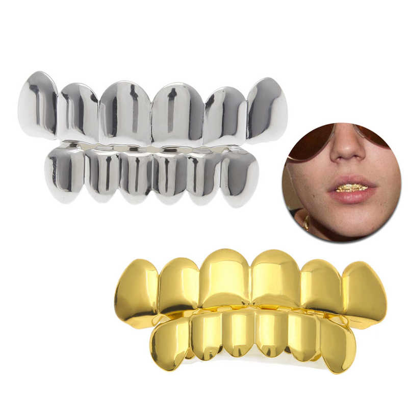Gold Silver Top Bootom Vampire Teeth Protector Dental Grills for Halloween Christmas Party