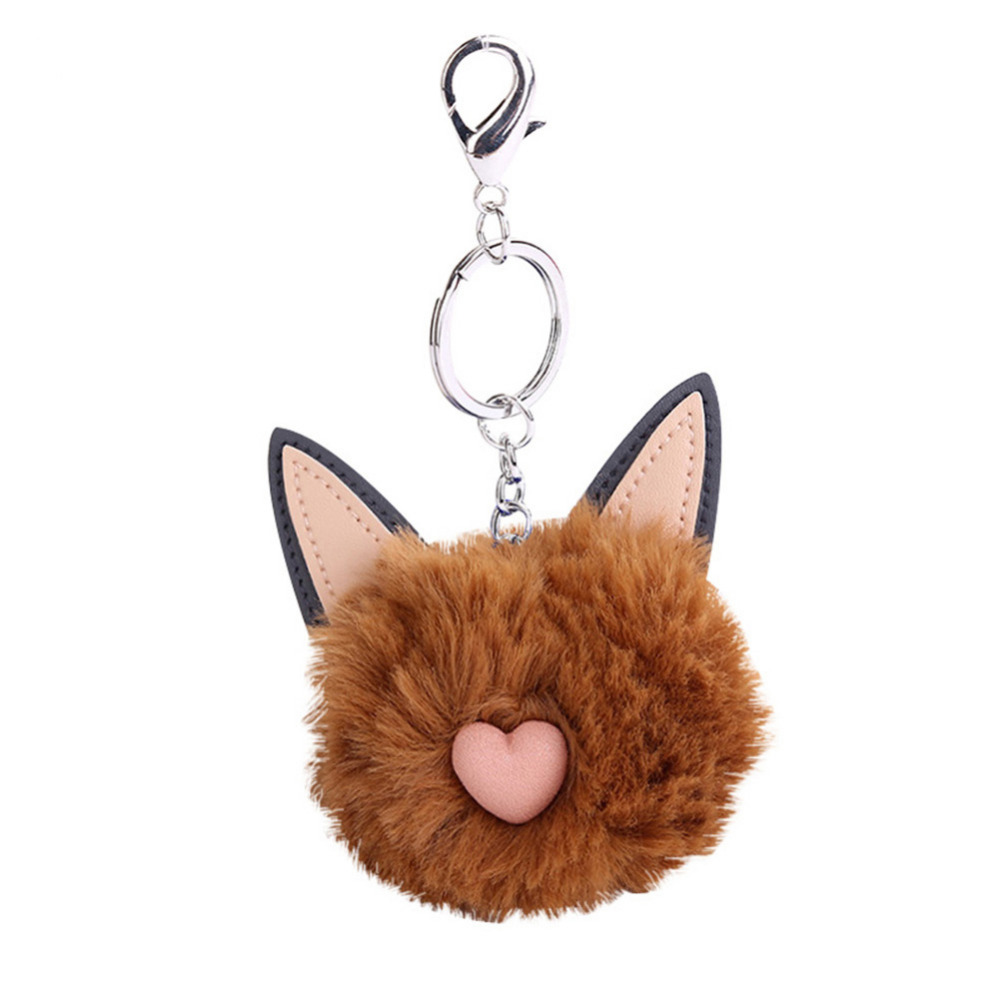 Cute Cat Faux Fur Fluffy Ball Key Chain Bag Girls Pendant Hanging Keyring  Gift -in Key Chains from Jewelry   Accessories on Aliexpress.com  42e03b828d445