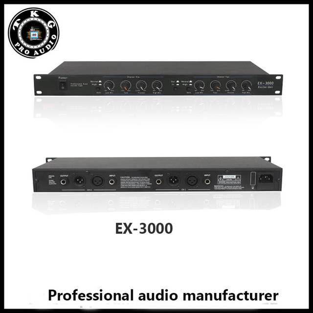 US $54 74 |TKG dj equipment disco stage outdoor sound system EX3000 EX 3000  Professional Vocal optimized actuator sound audio exciter-in Amplifier