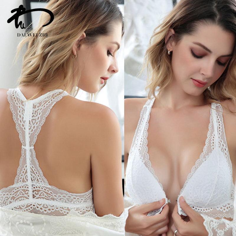 DAIWEIZHI Female Underwear 3 4 Cup Bralette Y Line Straps Bra Brief Sets Anterior Cingulate Bra