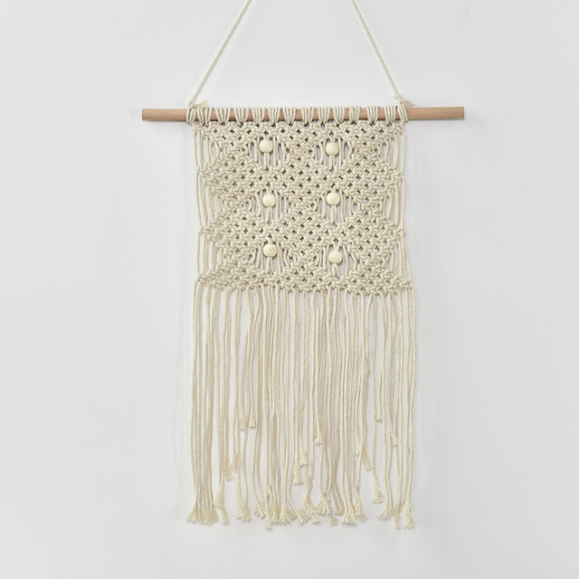100% Hand Woven Wall Hangings Original Color Cotton Yarn Children ...