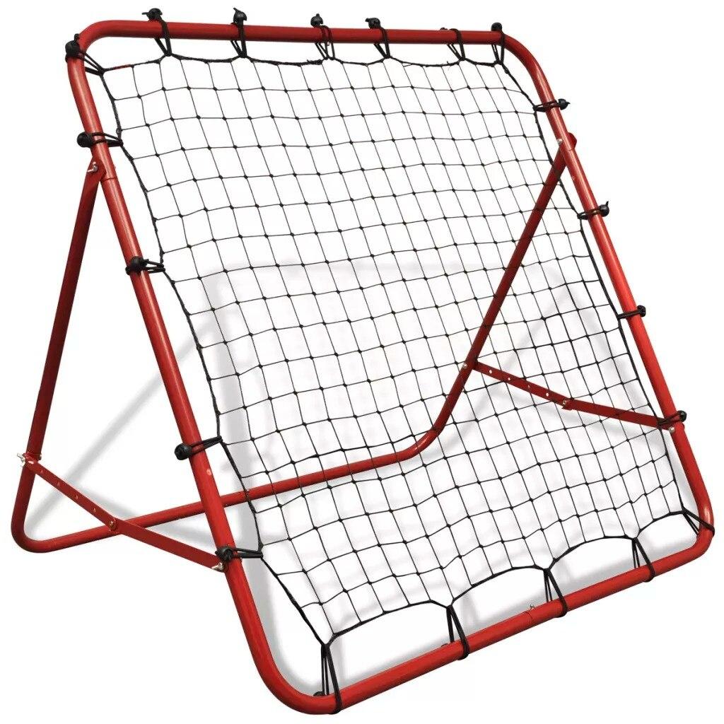 VidaX High-Quality Power-Coated Steel Adjustable Football Kickback Rebounder 100 X 100 Cm Football Soccer Net