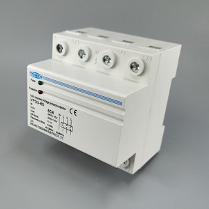 Image 2 - 60A 380V~ Three Phase four wire Din rail automatic recovery reconnect over voltage and under voltage protective protection relay