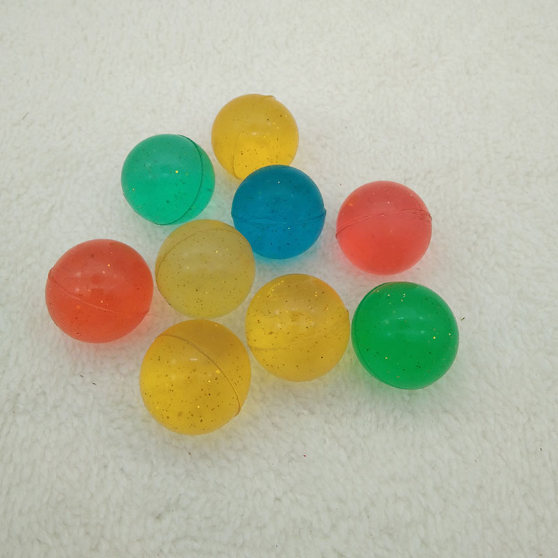 100pcs Children Toy Ball Colored Bouncing Ball Rubber Outdoor Toys Kids Sport Games Elastic Blue Green Juggling Jumping Balls