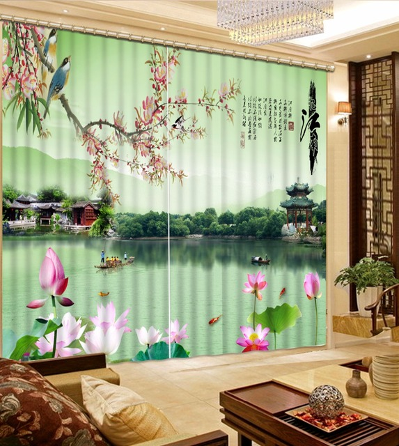 3D Blackout Curtains For Living Room Pastoral Scenery Curtain For The Bathroom  Window Curtain Art Fashion