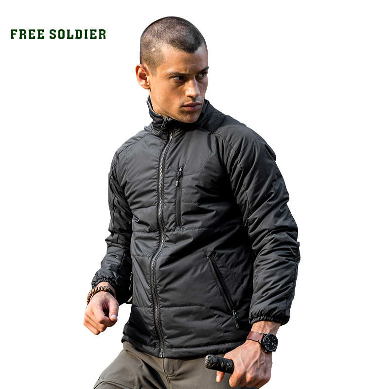FREE SOLDIER Outdoor tactical camping hiking storm jacket , insulated jacket with sintepon lining men's jacket