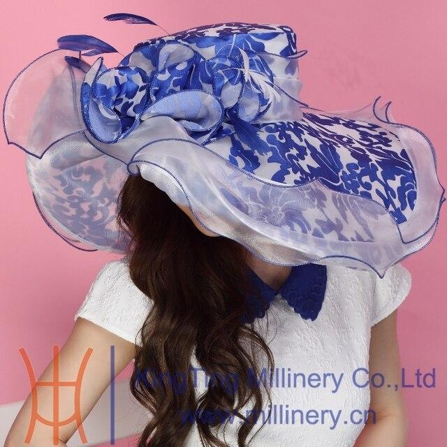 Бесплатная доставка Fashin шляпа из органзы шляпа церковь шляпа летнее платье шляпа необычные свадебное платье цветок два тона цвета