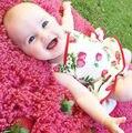 Новорожденный Младенец Девочка Прекрасный Цветок Печати Ползунки Платье Боди Платье Одежда Платья Балетной Пачки Наряды
