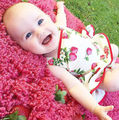 Newborn Infant Baby Girl Lovely Flower Print Romper Dress Bodysuit Dress Clothes Tutu Dress Outfits