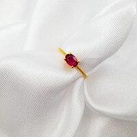 Lii Ji натуральный Драгоценный Рубин 4x6 мм 925 серебро для женщин обручение обручальное кольцо Роскошные