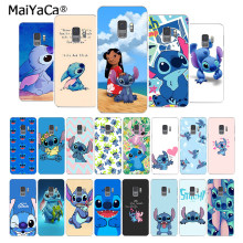 MaiYaCa Fashion Cute Cartoon Lilo Stitch on sell phone case for samsung galaxy S4 5 6 7Edge 8 9 s6edge PLUS 8 9plus mobile cover(China)