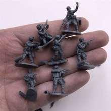 1: 72 4D сборная солдатская модель пластиковый маленький солдатик различной формы песочный стол Модель Игрушки 12 шт./лот