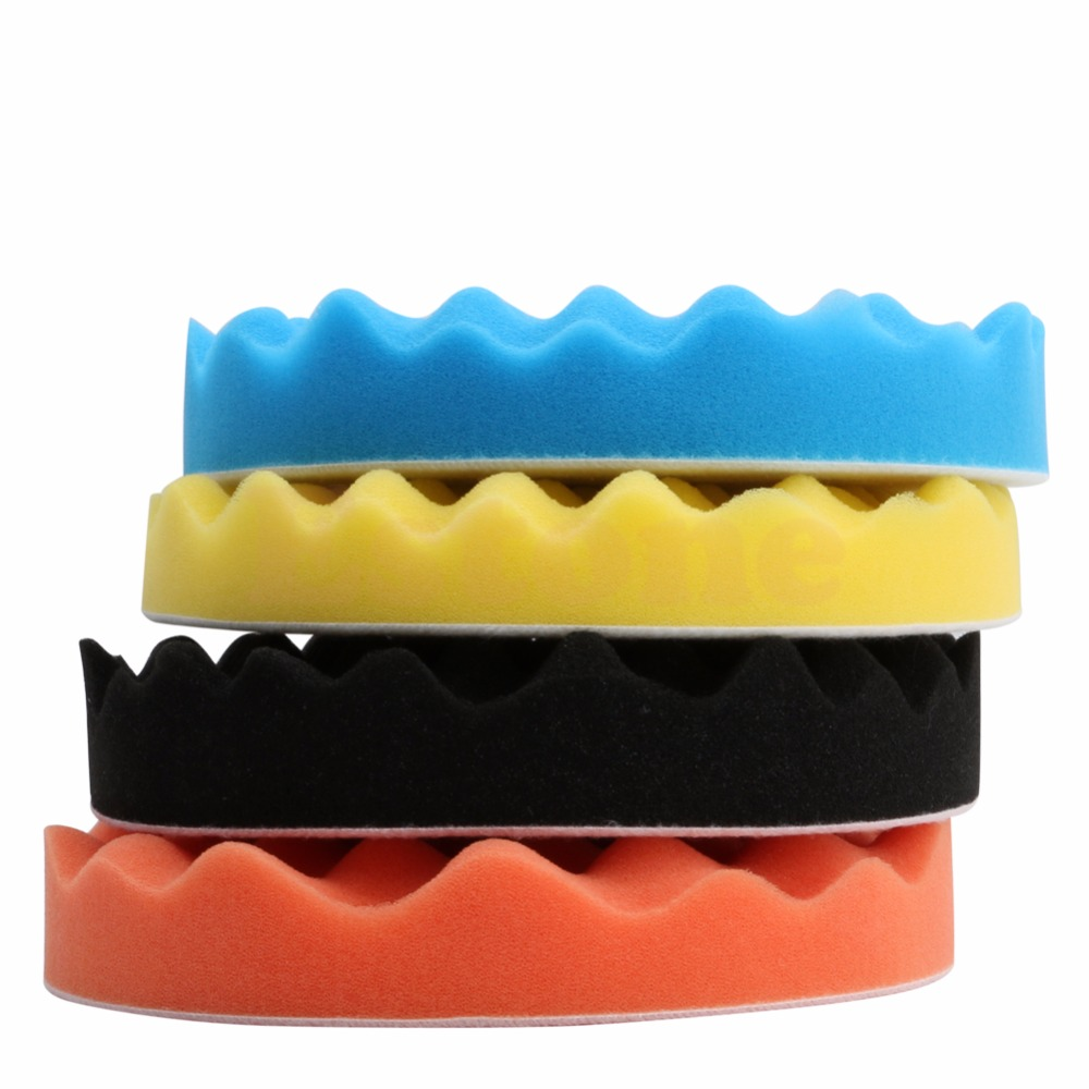4pcs/Set 3/4/5/6/7 Inch Buffing Sponge Polishing Pad Hand Tool Kit For Car Polisher Wax MY16_35