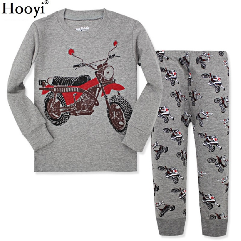 Digger Vehicle Baby Boys Clothes Suits 100% Cotton Children Pajamas Kids Sleepwear Sets Nightgown PJ'S Long Tees Shirts Pant Set 6