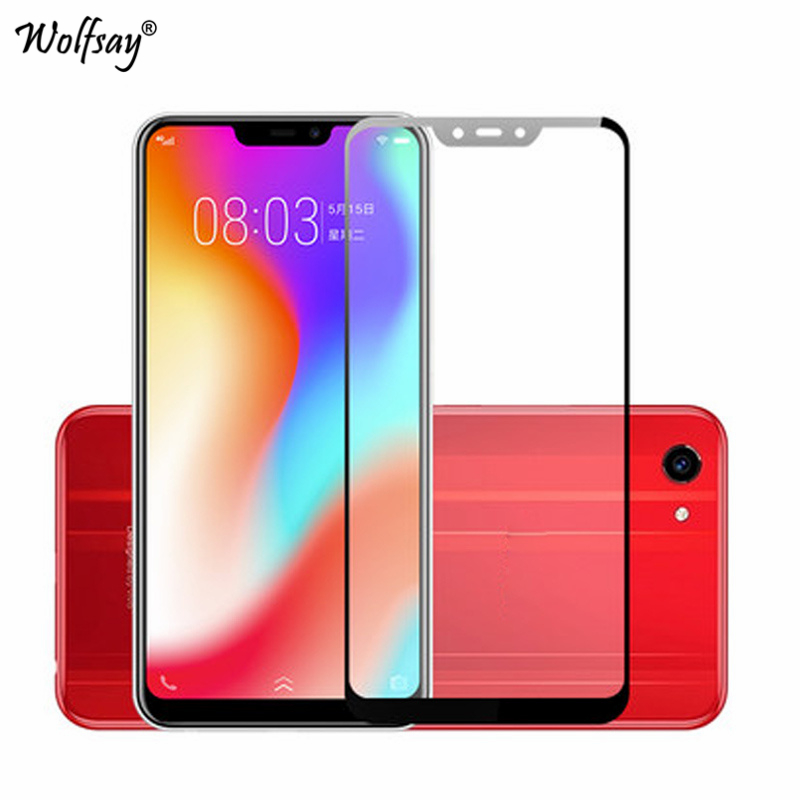 Wolfsay Full Cover Screen Protector For Vivo Y81 Glass Vivo Y81 Tempered Glass 9H Premium Cover For BBK Vivo Y81S MT6762 6.22