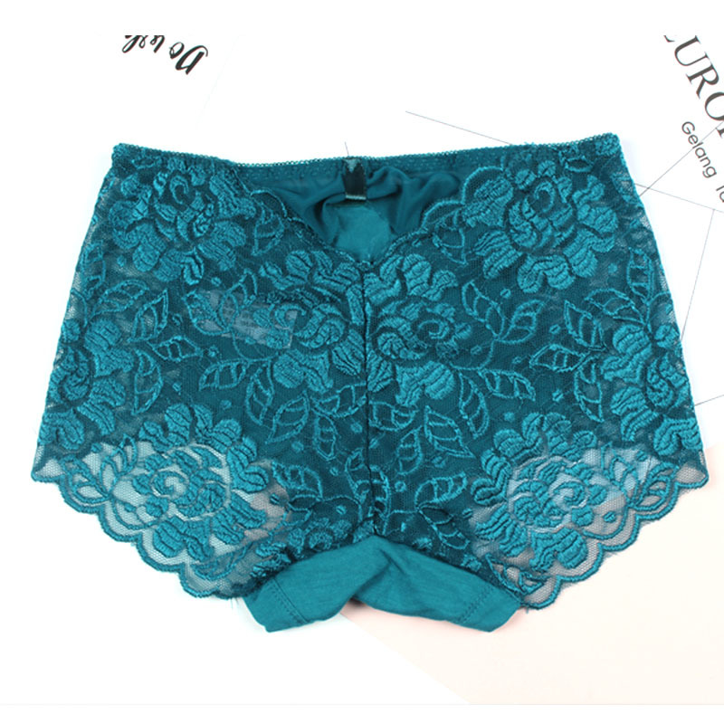 c6042b546bd KJA189 Women Sexy Transparent Lace Underwear Briefs Female Large Size  Comfortable Lingerie Ladies Mid Waist Panties