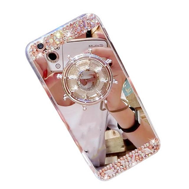 premium selection 3fd59 3bede US $3.95 |Relax DIY Fidget Spinner Mirror Back Cover Hand Spinner Metal  Bling Shinny Rhinestone Phone Cases Skin For VIVO X9 X7 PLUS-in Rhinestone  ...