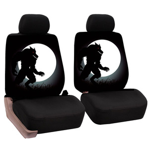 Image 2 - O SHI CAR 2 pcs Lion print front seat cover Universal personality car covers Protective seats Automotive interior decoration